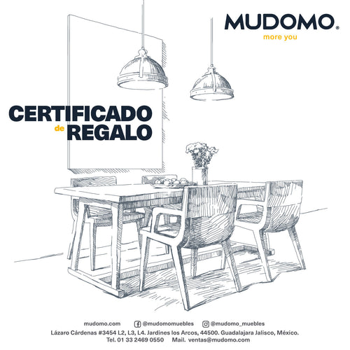 CERTIFICADO DE REGALO DIGITAL MUDOMO