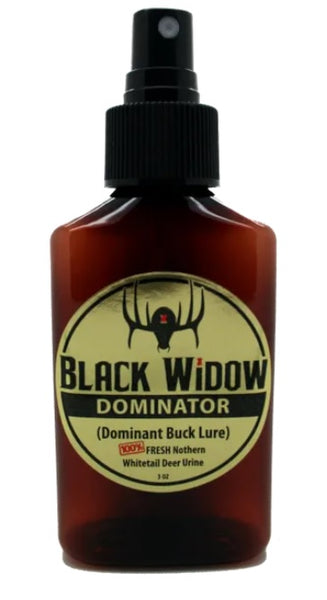 Black Widow Dominator 3oz Northern Whitetail Buck Urine - Ringtails and Tall Tales Hunting, Dog Supply, and Taxidermy