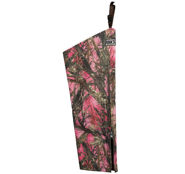 High-N-Dry Chaps Pink Camo - Ringtails and Tall Tales Hunting, Dog Supply, and Taxidermy