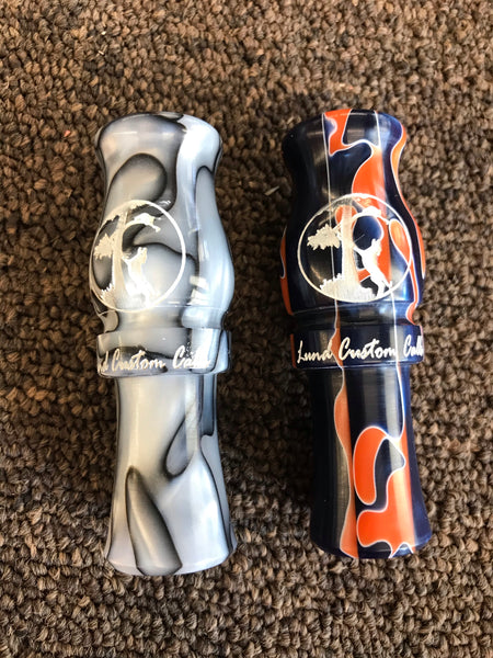 Lund Custom Calls Double Reed Engraved Coon Squaller - Ringtails and Tall Tales Hunting, Dog Supply, and Taxidermy