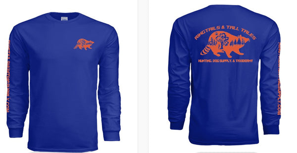 Long Sleeve Ringtails & Tall Tales Logo T-Shirt - Ringtails and Tall Tales Hunting, Dog Supply, and Taxidermy