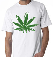 Leaf Weed Pot Smoking Smoke Bong Joint Graphic Shirt T-shirt Men'S High Quality  Printed Tops T Shirt 100% Cotton