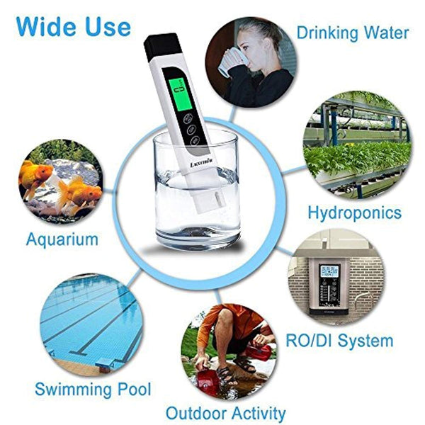 3 in 1 TDS / EC / Temp Digital Water Testing Meter @ The Growing Shop
