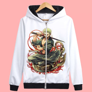 One Piece zip Hoodies