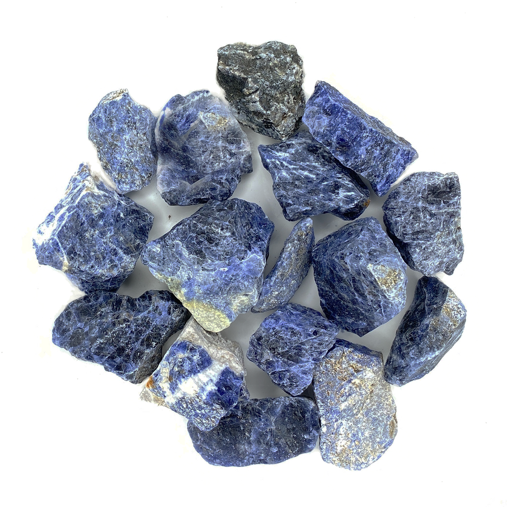 Bulk Rough Stone - Large - Blue Sodalite from Brazil