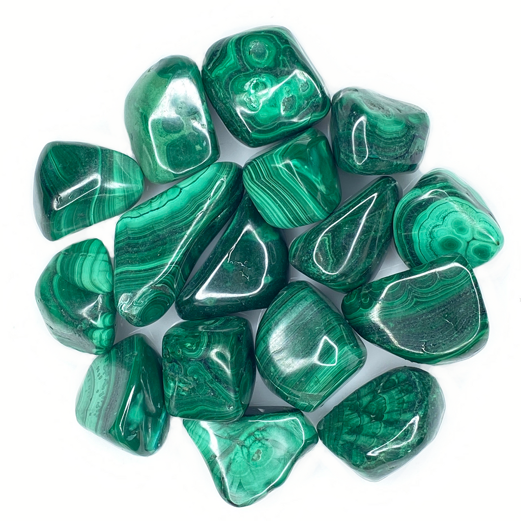 Bulk Tumbled Stone - Large - Green Malachite from South Africa
