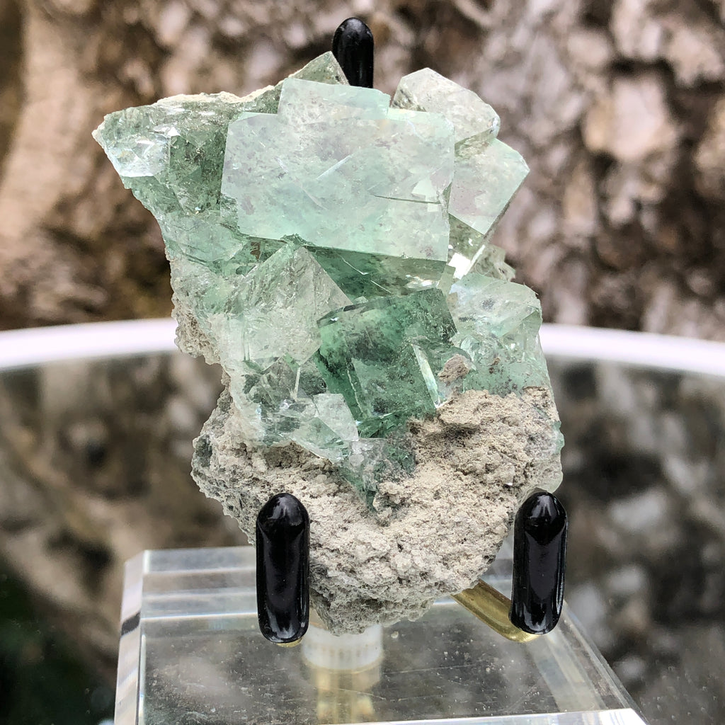 58g 7x5x6cm Glass Green and Clear Fluorite from Xianghualing,Hunan,CHINA