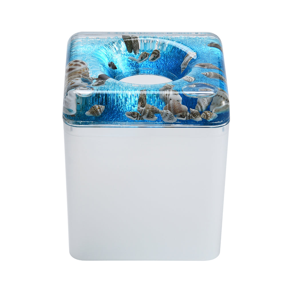 Acrylic Liquid 3D Floating Motion Square Tissue Holder Shell