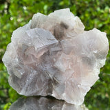 426g 9x9x5cm Perfect Cubic Grey Fluorite from Balochistan, Pakistan