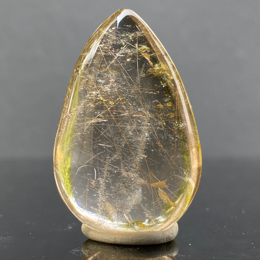 19.1g 4.1x2.7x1.4cm Clear Rutilated Quartz from China