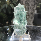 136g 9x5x4cm Glass Green and Clear Fluorite from Xianghualing,Hunan,CHINA