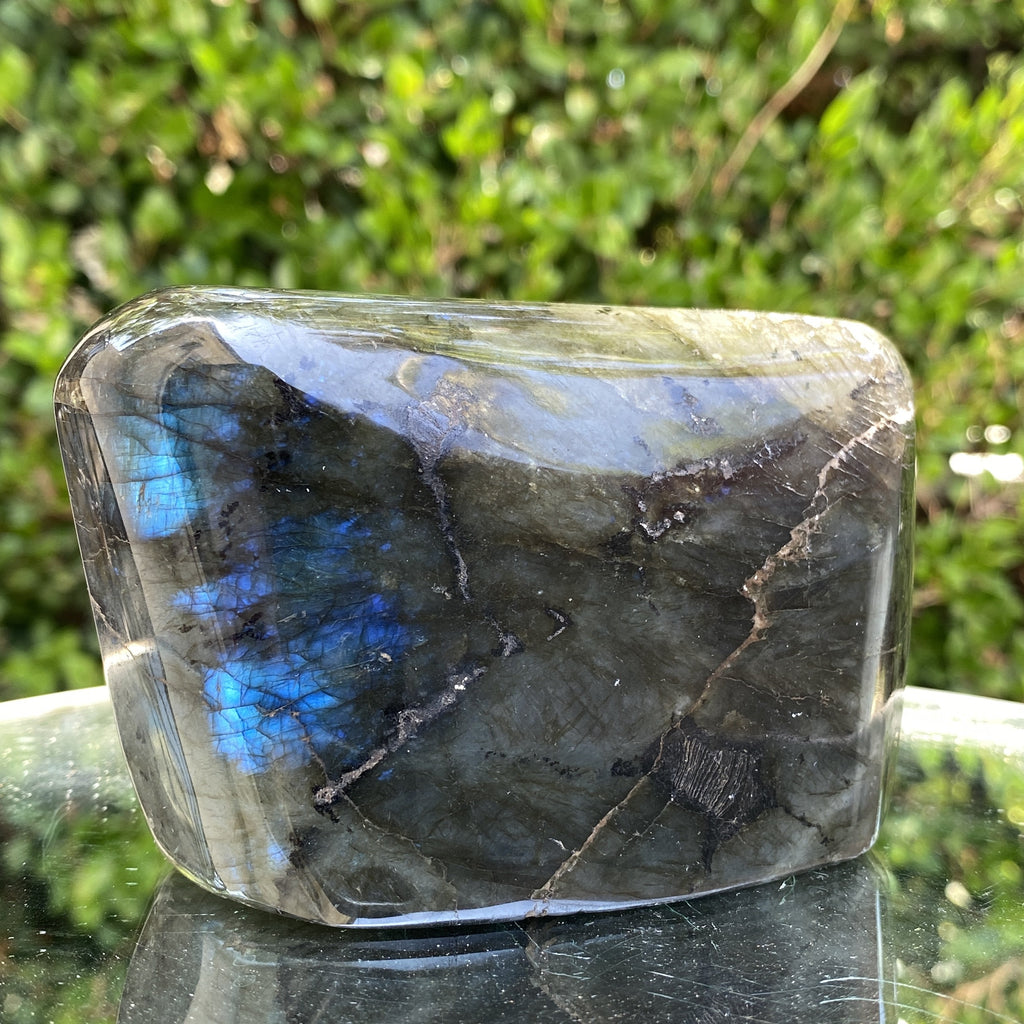984g 13x7x6cm Rainbow Labradorite Natural Shape from China - Locco Decor