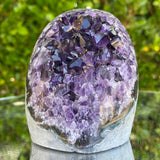 488g 9x8x6cm Grade A+ Big Smooth Crystal Purple Amethyst Geode from Uruguay