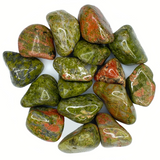 Bulk Tumbled Stone - Large - Green Unakite from South Africa