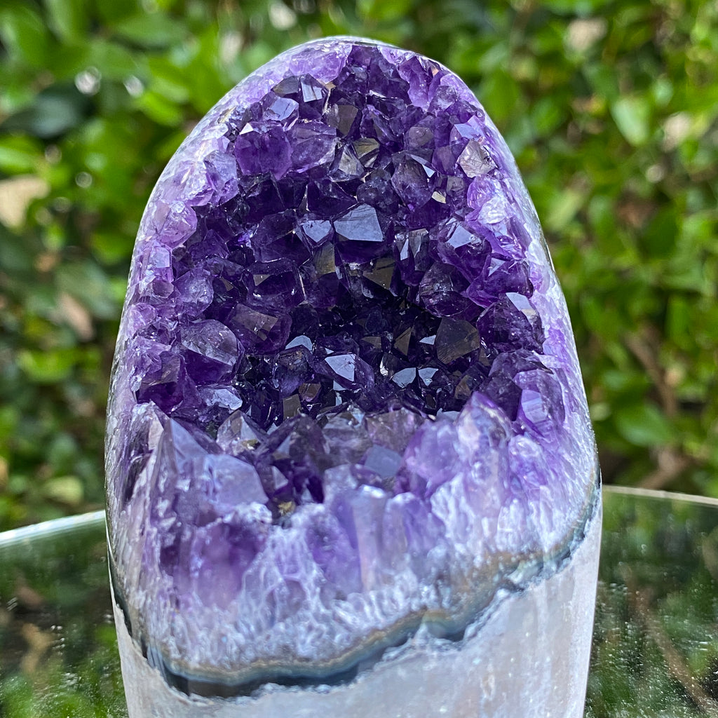 512g 9x8x7cm Grade A+ Big Smooth Crystal Purple Amethyst Geode from Uruguay