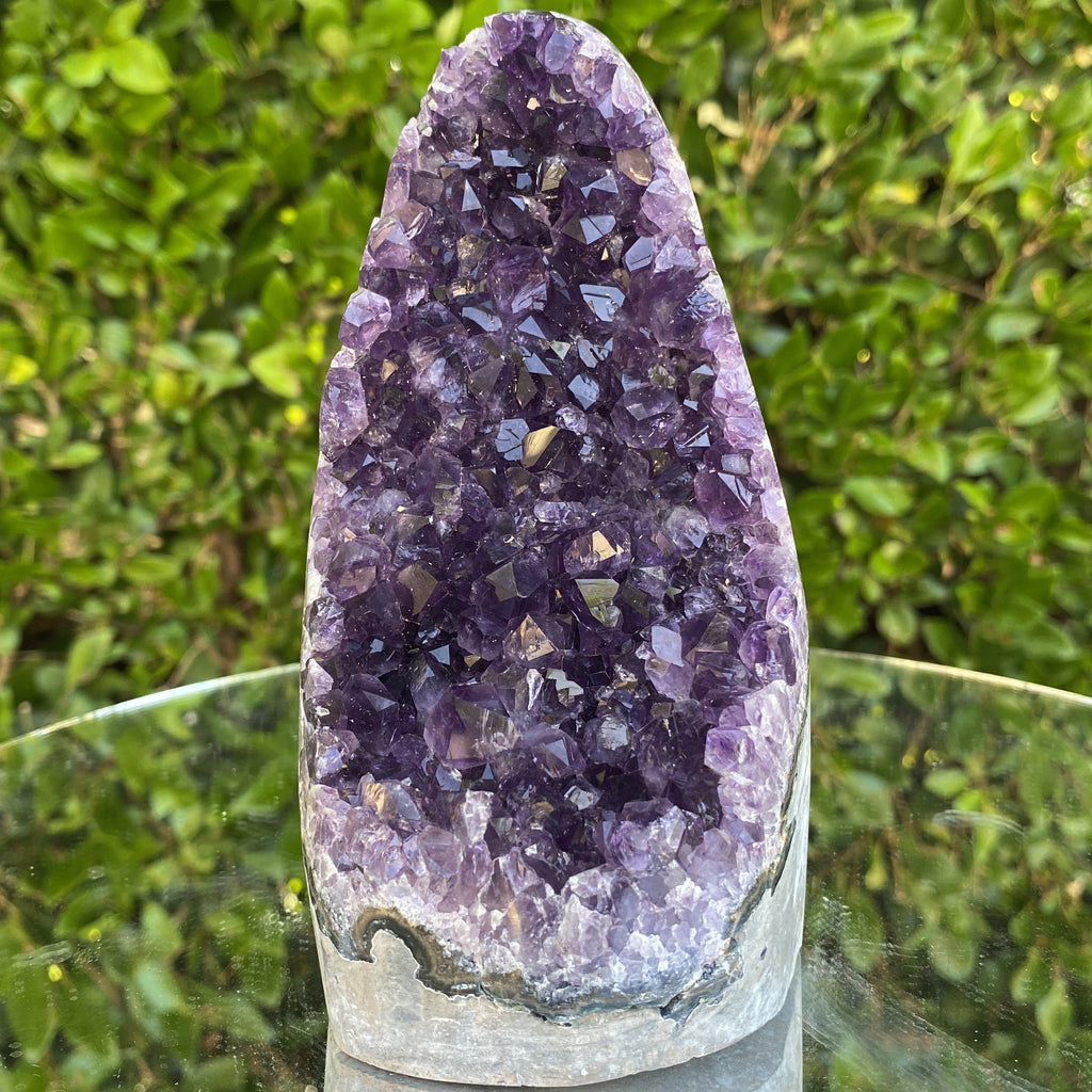 1.126kg 15x9x8cm Grade A+ Big Smooth Crystal Purple Amethyst Geode from Uruguay - Locco Decor