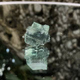5g 2x2x2cm Glass Green and Clear Fluorite from Xianghualing,Hunan,CHINA