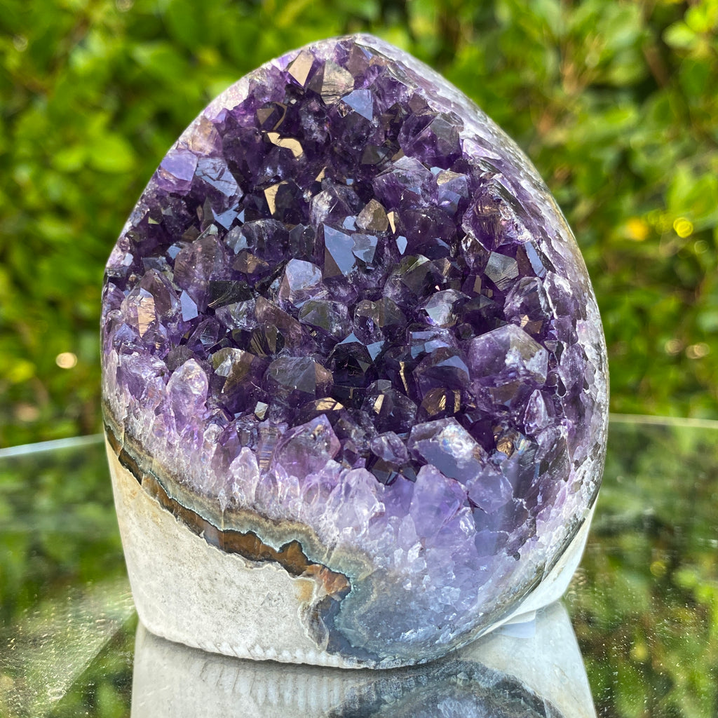 612g 10x9x8cm Grade A+ Big Smooth Crystal Purple Amethyst Geode from Uruguay
