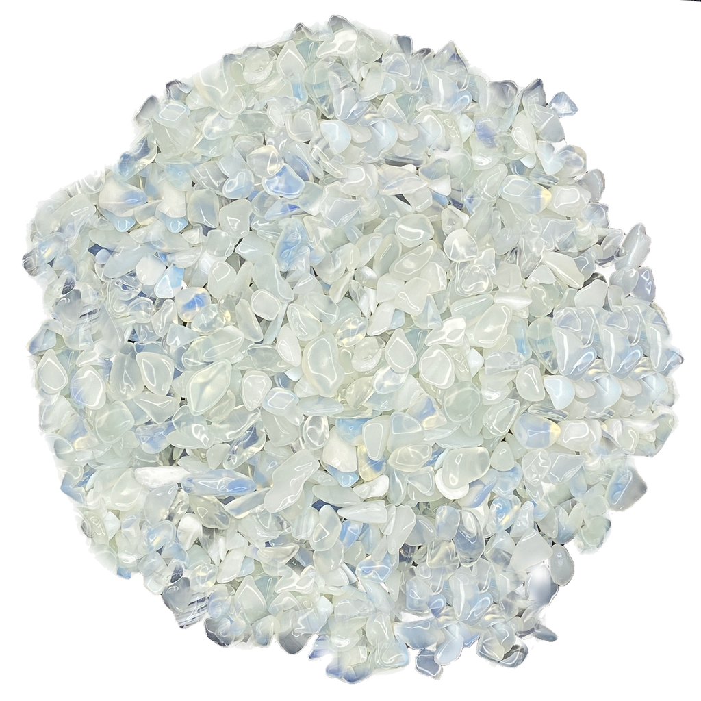 Bulk Tumbled Stone - Small - White Artificial Opal from China