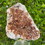 470g 13x9x3cm White Feldspar with Orange Spessartite Garnet from Tongbei, Fujian, CHINA