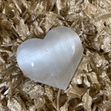 Clear Selenite Heart