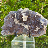 482g 12x9x4cm White Calcite with Purple Fluorite from Balochistan, Pakistan