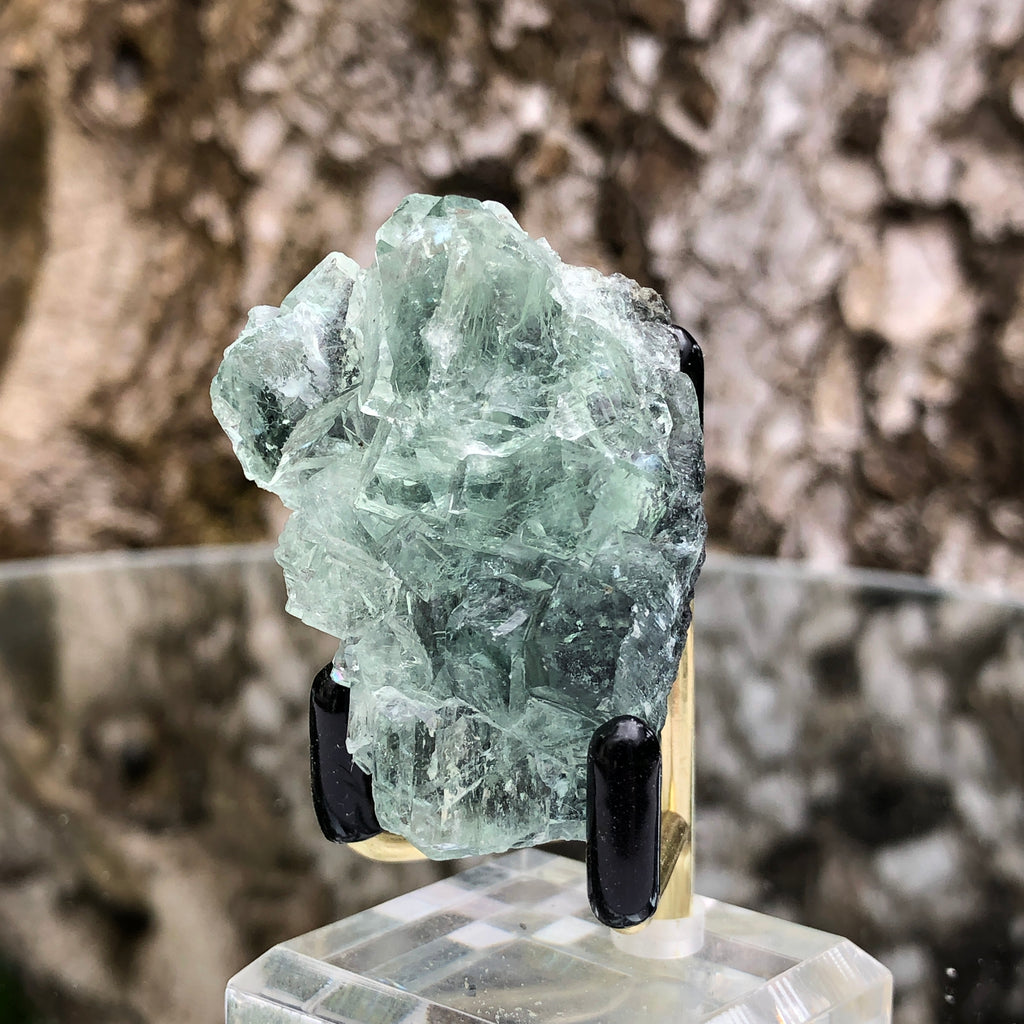 42g 4x2x3cm Glass Green and Clear Fluorite from Xianghualing,Hunan,CHINA