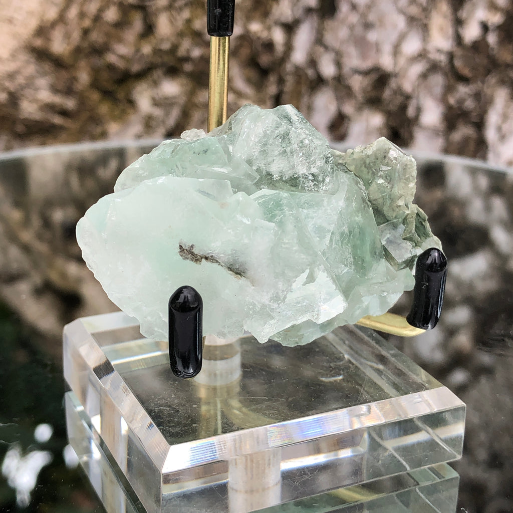 74g 6x4x3cm Glass Green and Clear Fluorite from Xianghualing,Hunan,CHINA
