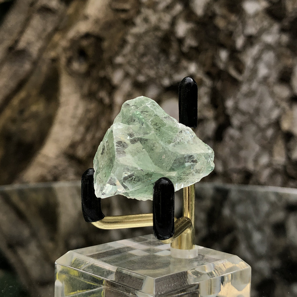 14g 3x3x2cm Glass Green and Clear Fluorite from Xianghualing,Hunan,CHINA