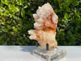 194g 9x6x6cm Orange Stalatite Stalagmite Calcite from United States