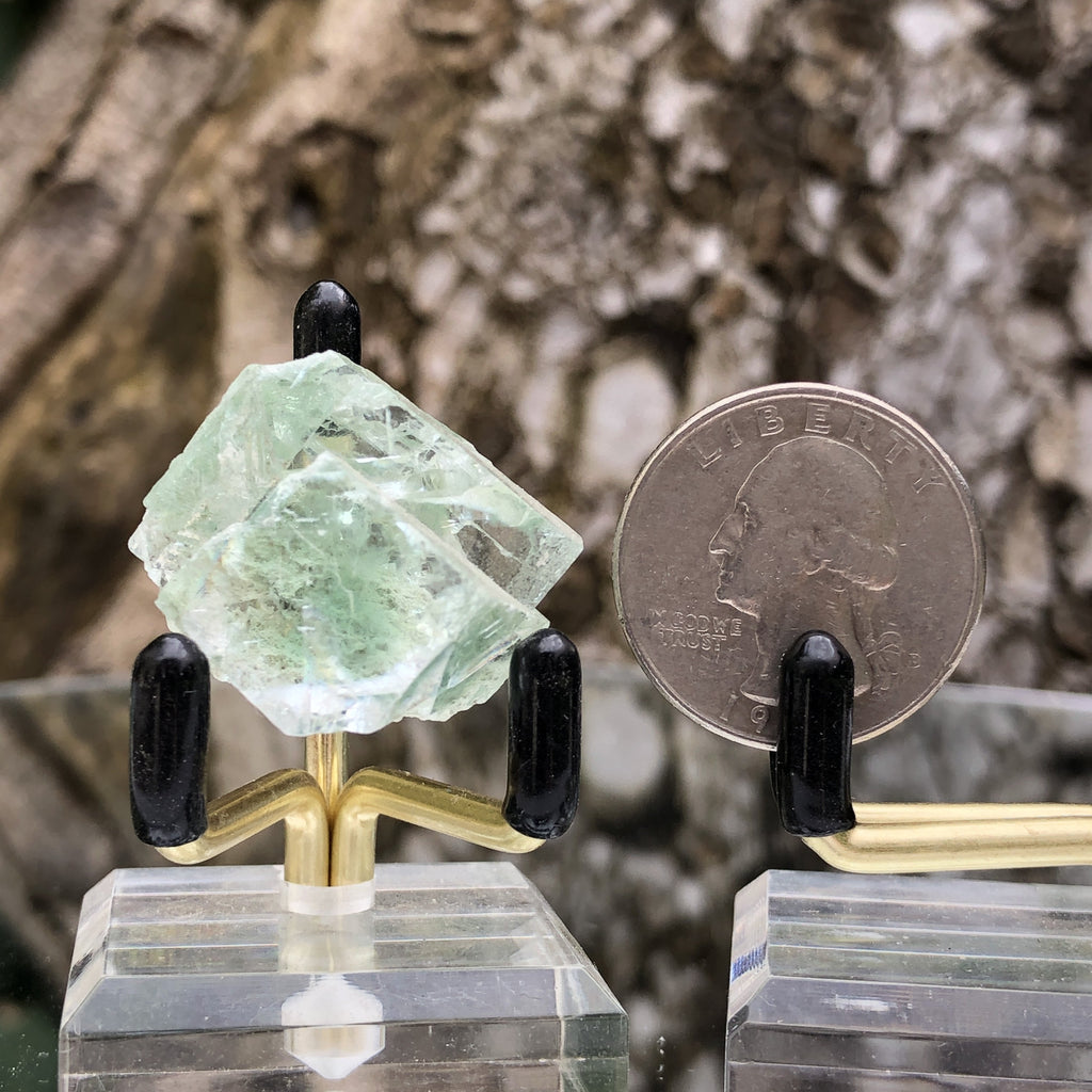 14g 3x3x2cm Glass Green and Clear Fluorite from Xianghualing,Hunan,CHINA - Locco Decor