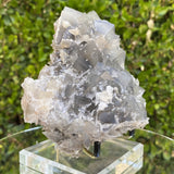 1.15kg 15x13x8cm Cubic Matrix White Calcite Spikes Grey Fluorite from Balochistan, Pakistan - Locco Decor