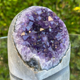 366g 8x7x7cm Grade A+ Big Smooth Crystal Purple Amethyst Geode from Uruguay