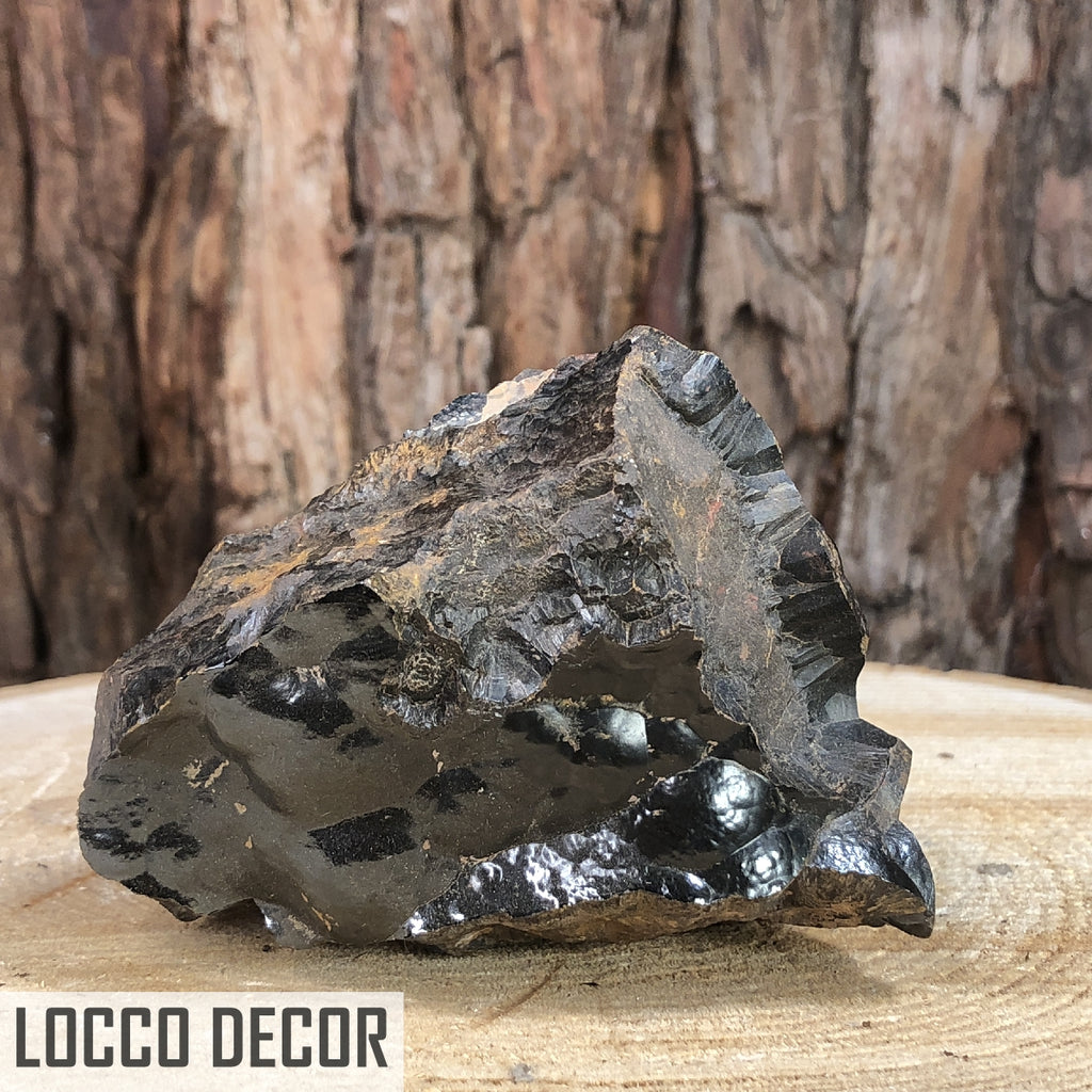 523g 9x8x7cm Botryoidal Black Hematite from Morocco