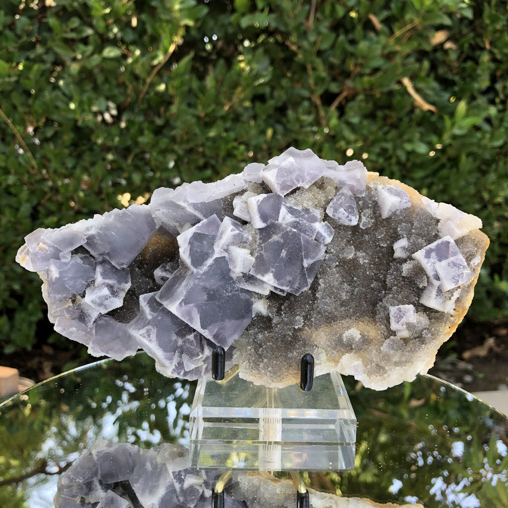 492g 18x9x4cm Lavander Purple Fluorite  from China