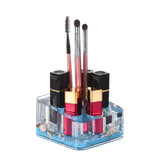 Acrylic Liquid 3D Floating Motion Square Lipstick Brush Makeup Holder Orangizer Conch