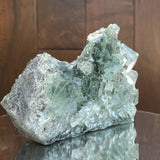 654g 12x10x6cm Glass Green Clear Transparent Fluorite from China - Locco Decor