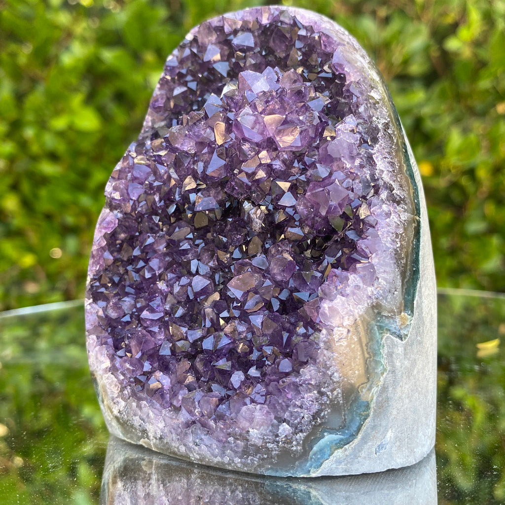 628g 10x8x6cm Grade A+ Big Smooth Crystal Purple Amethyst Geode from Uruguay
