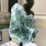 120g 7x6x4cm Glass Green and Clear Fluorite from Xianghualing,Hunan,CHINA