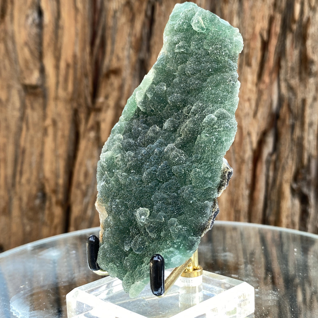 204g 11x6x3cm Green botryoidal Fluorite from China - Locco Decor