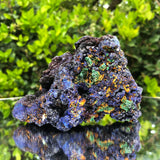 514g 10x7x8cm Shiny Blue Azurite from Sepon Mine, Laos