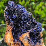 194g 8x8x3.5cm Mountain Fish Tank Decorative Blue Azurite from Sepon Mine, Laos