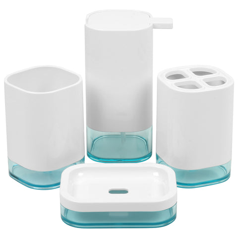 4 Pieces Acrylic Modern Minimalsm Style Bathroom Vanity Accessory Set