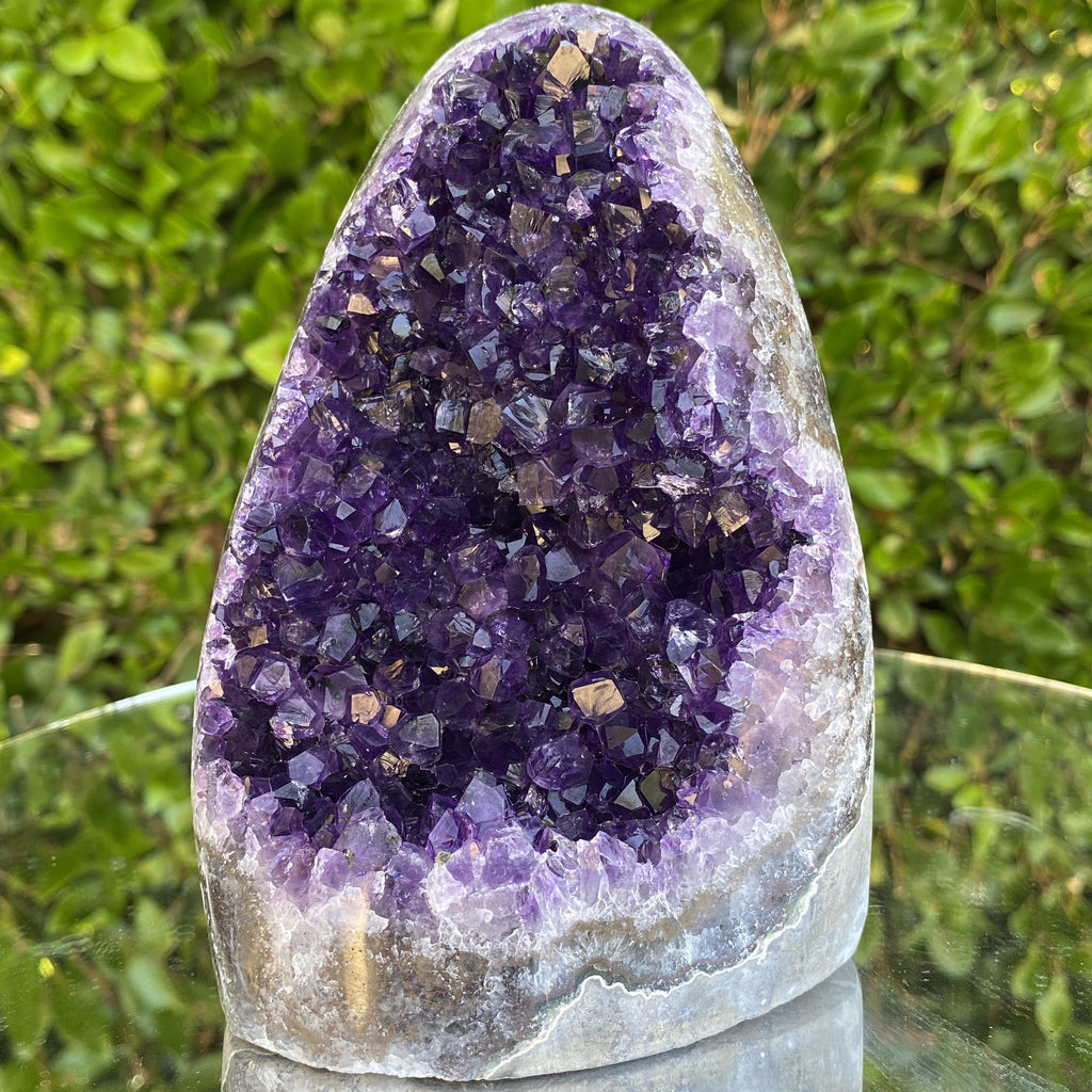 1.25kg 15x10x6cm Grade A+ Big Smooth Crystal Purple Amethyst Geode from Uruguay - Locco Decor