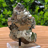 466g 9x7x7cm Gold Pyrite with Grey Galena from Huaron, Peru