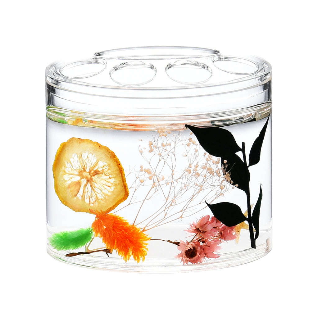 Acrylic Liquid Motion Home Decor Lemon Toothbrush Holder