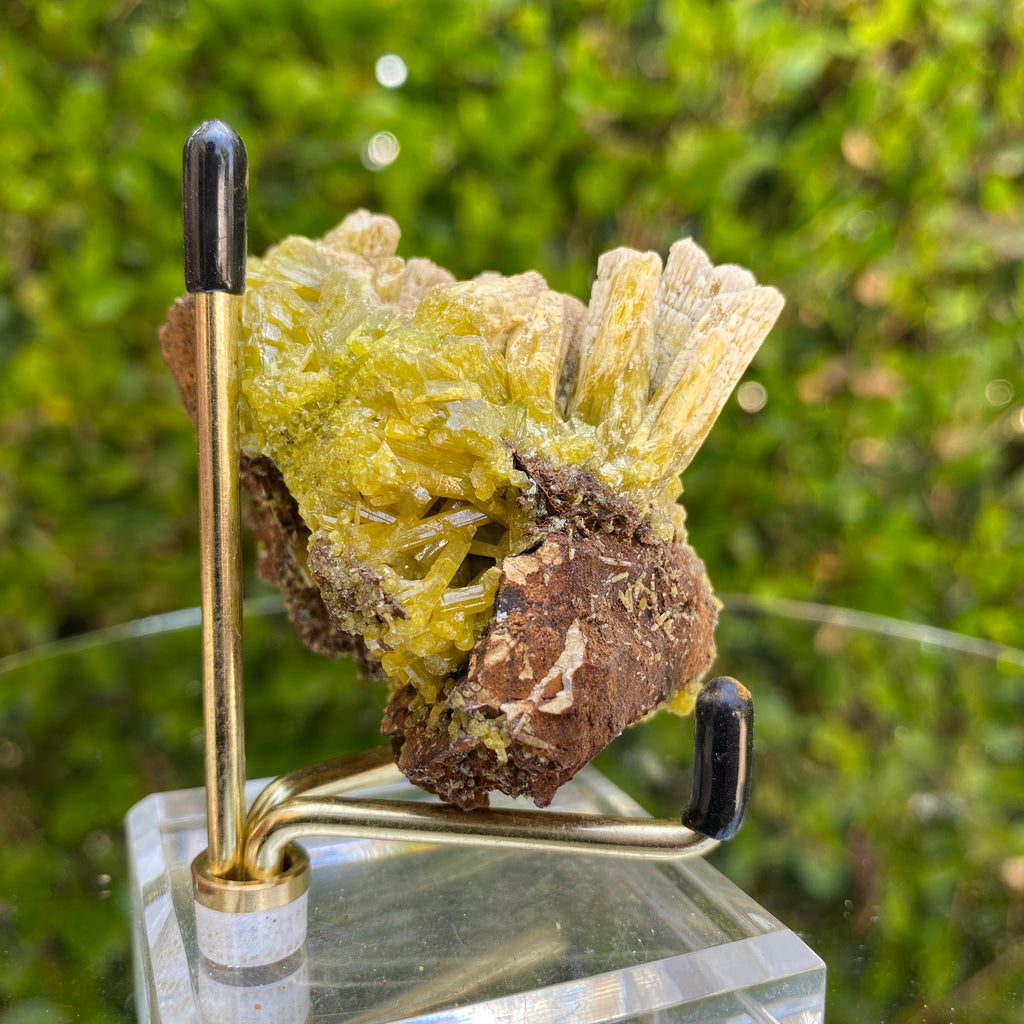 176g 6x4x4cm Green pyromorphite from Daoping Mine,China