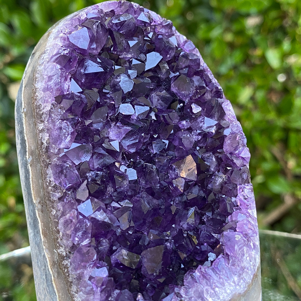 806g 11x9x8cm Grade A+ Big Smooth Crystal Purple Amethyst Geode from Uruguay