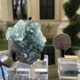 98g 7x6x4cm Glass Green and Clear Fluorite from Xianghualing,Hunan,CHINA