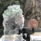 88g 8x5x4cm Glass Green and Clear Fluorite from Xianghualing,Hunan,CHINA
